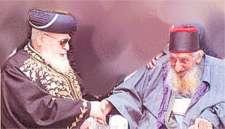 Hakham Yishaq Khedhourie (Yizchak Kadouri) with Hakham 'Obadia Yosef (Harav Ovadia Yosef)