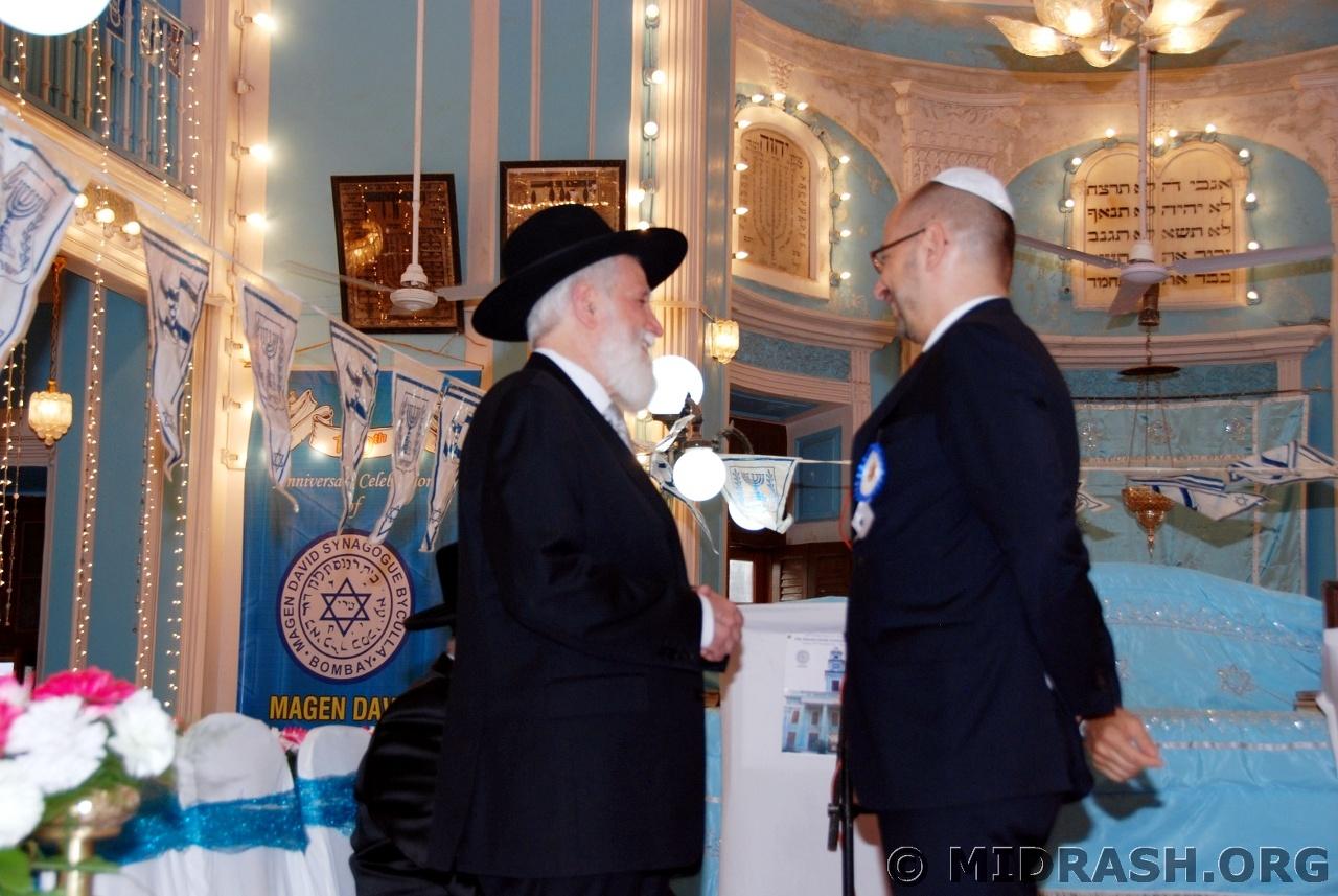 Rabbi Ya\'aqob Menashe with HE ambassador of France Mr. François Richier.