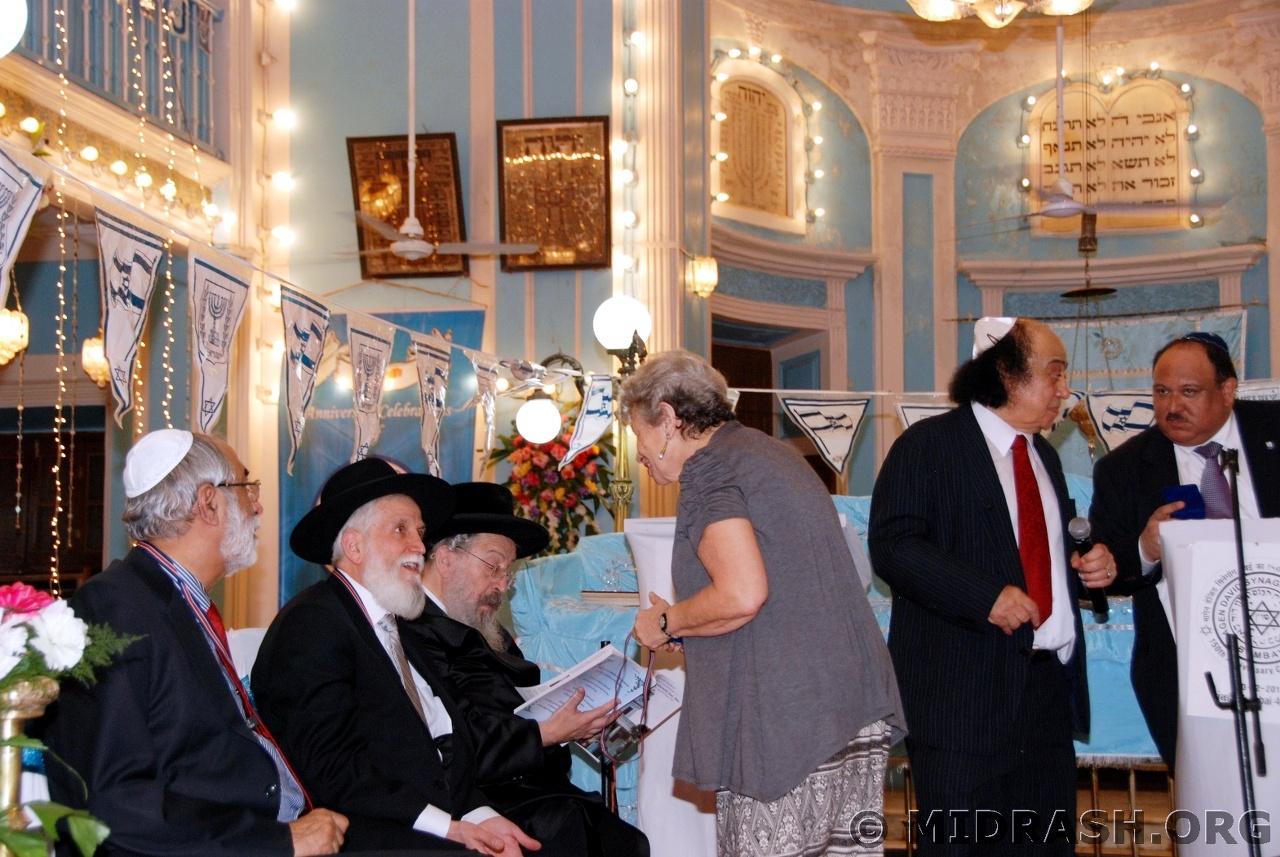 Speaks to Rabbi Menashe