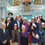 Group picture inside the Keneseth Eliyahoo Synagogue, Mumbai, India
