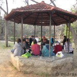 Lunch in a Delhi park