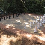 Giant chess set and Lord's hotel, Matheran.