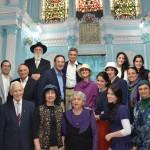 Group at Keneseth Eliyahoo Synagogue, Mumbai , India.
