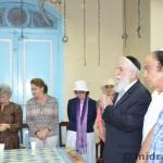 The Hakham, Rabbi Ya'aqob Menashe, blesses the crowd.