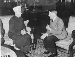 Mufti of Jerusalem who created the anti Jewish climate in Baghdad pictured in Nazi Germany with Hitler